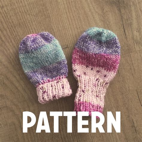 thumbless baby mittens knitting pattern basic baby thumbless mittens pattern