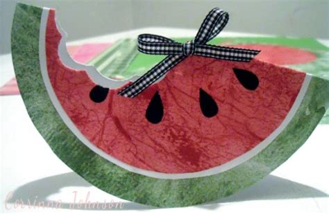 summer paper crafts how to make a watermelon card or invitation for summer