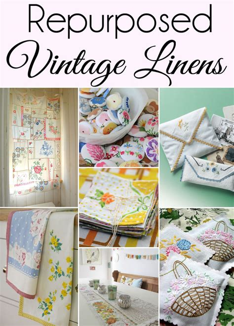 vintage this repurpose that 15 ways to repurpose vintage linens