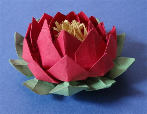 how to make origami lotus flower how to make 20 petal lotus with stamen variation of