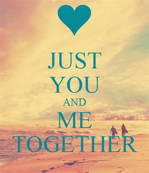 Just You And Me Together Poster Adrummercuri Keep Calm