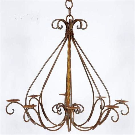 iron candle chandelier wrought iron braided candle chandelier outdoor patio