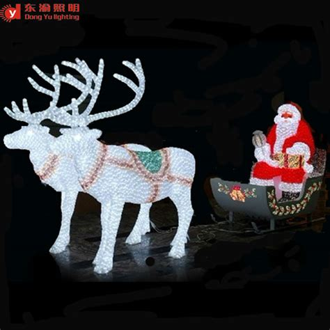 lighted reindeer decorations outdoor decoration led lighted reindeer carriage