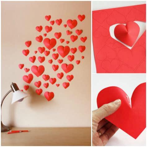 easy diy paper crafts diy 3d paper hearts