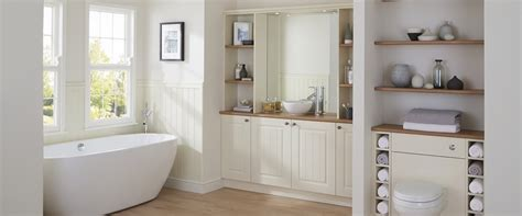 White Tongue And Groove Bathroom Cabinet by Burford Tongue Groove Bathroom Cabinet Howdens Joinery