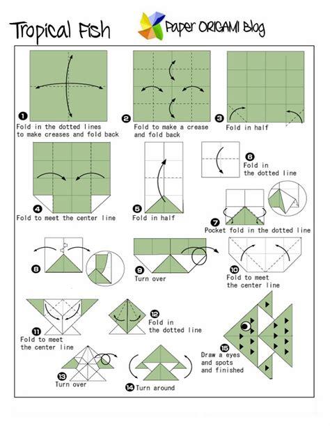 Sea Creatures Tropical Fish Origami Paper Origami Guide