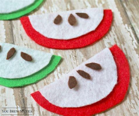 easy felt crafts for easy apple slices felt crafts for