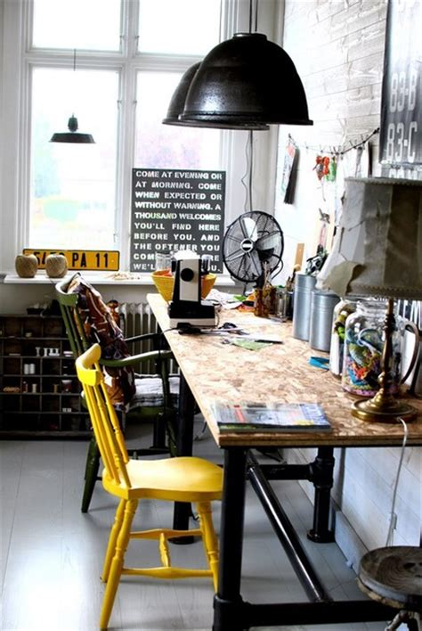 Desk In Bedroom Ideas 50 interesting industrial interior design ideas shelterness