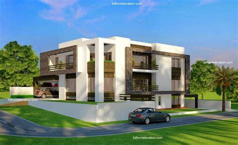 Home Exterior Design India Residence Houses 3d front elevation com 2 kanal corner plot beautiful