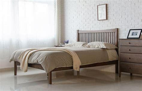 bed frames singapore wood furniture singapore thames wood bed frame solid