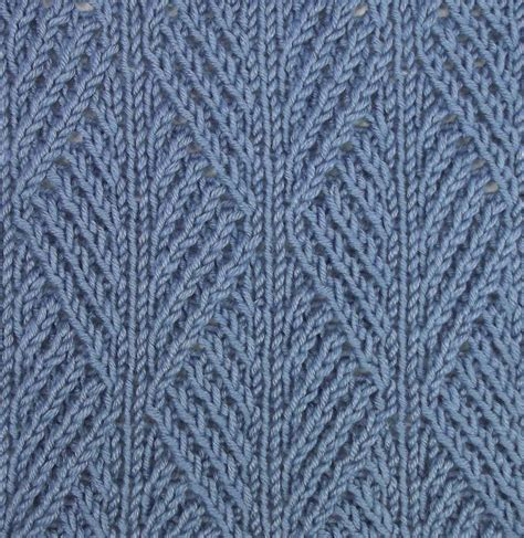 Ribbed Leaf Stitch Is Accomplished Using Twisted Stitches