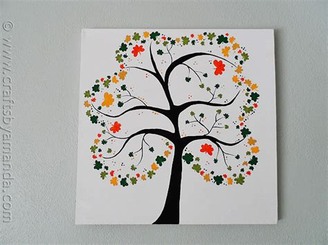 craft projects for adults shamrock crafts shamrock tree on canvas
