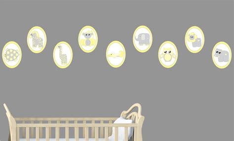 animal wall decor for nursery yellow baby safari animal wall decals stickers safari
