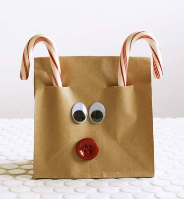 reindeer paper bag craft make magical for growing a jeweled