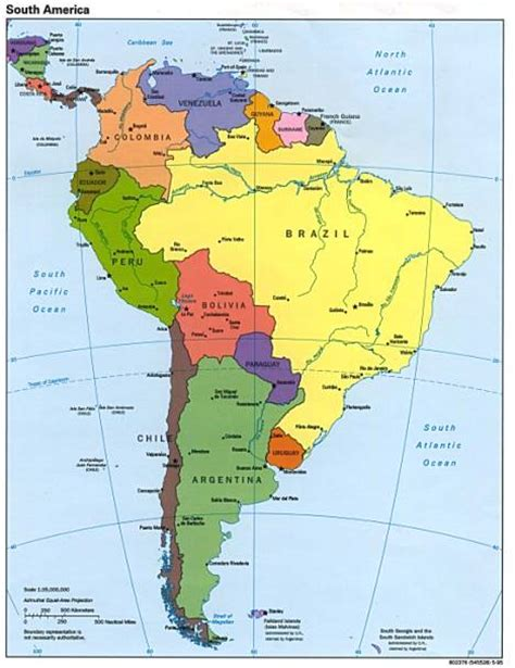 south american map page of south america