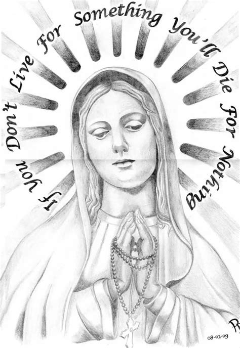 praying hands virgin mary tattoo on right back shoulder by