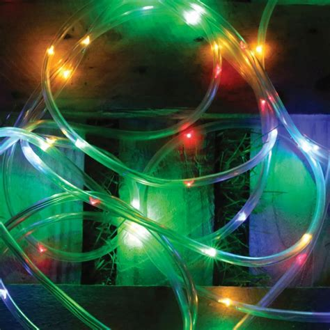 coloured rope lights bright garden solar rope light 5 metre multi coloured