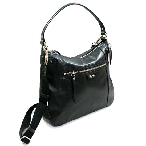 black leather the shoulder bag coach leather convertible hobo shoulder bag black 23937 coach 23937