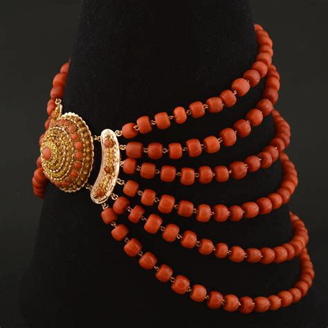 coral for jewelry antique coral necklace artlistings