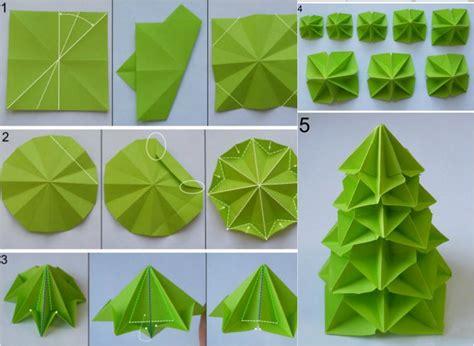 bastelanleitung weihnachtsbaum origami zu weihnachten falten 6 ideen mit faltanleitung