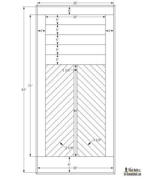 barn door dimensions remodelaholic how to build a wood chevron barn door