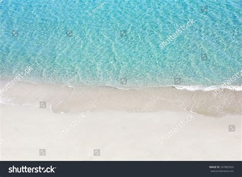 from up above beautiful white sand tropical turquoise stock photo