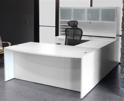 white u shaped desk white u shaped workstation w hutch