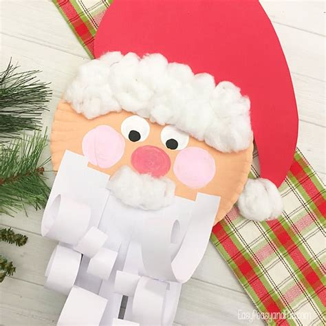 santa paper plate craft jolly santa paper plate craft easy peasy and