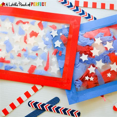 patriotic crafts for patriotic suncatcher craft for fourth of july