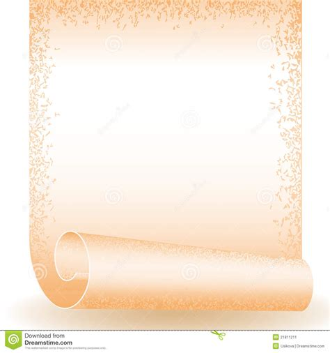 roll old paper stock image image 21811211