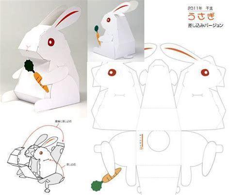 paper craft rabbit paper craft new 720 papercraft rabbit