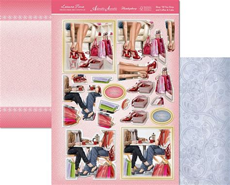 decoupage set hunkydory sports leisure time die cut decoupage and card