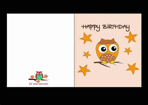 make printable birthday cards free printable birthday cards for template