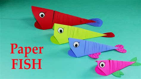 easy paper crafts for paper crafts for easy paper fish crafts diy