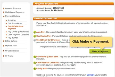 how to make credit card payment through debit card welcome to gas south s account services