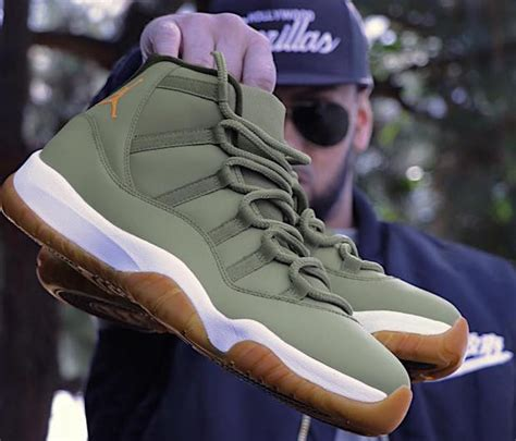 columbia paint angelus matte olive green air xi customs by feelgoodthreads