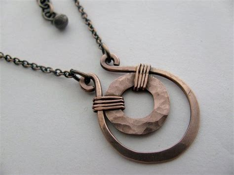how to make hammered jewelry hammered copper necklace smaller size