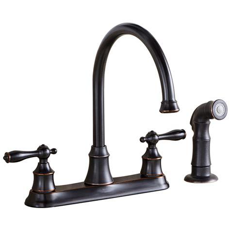 kitchen faucet rubbed bronze shop aquasource rubbed bronze 2 handle high arc