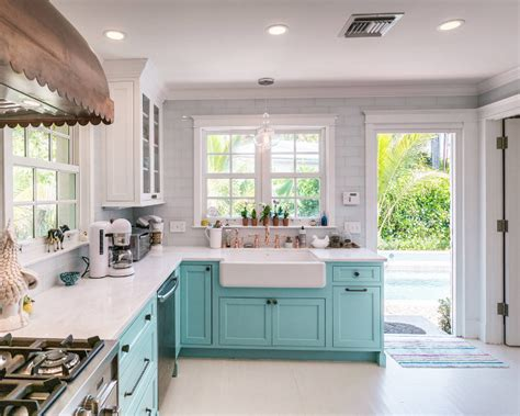 turquoise kitchen decor ideas custom kitchen with turquoise cabinets home bunch interior design ideas