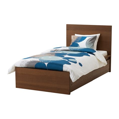 malm bed frame with box malm high bed frame 2 storage boxes lur 246 y ikea