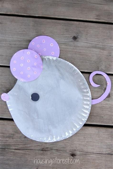 plate craft paper plate mouse craft housing a forest