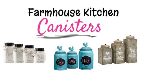 Kitchen Canisters Blue farmhouse kitchen canister sets and farmhouse decor ideas