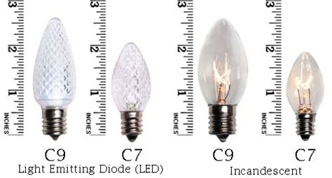 c7 bulb size c7 c9 lights