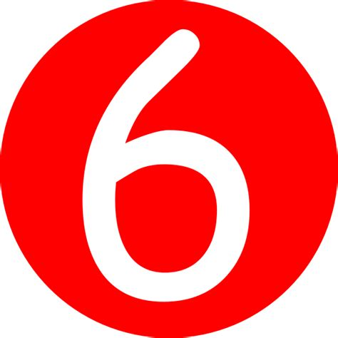 number six rounded with number 6 clip at clker vector