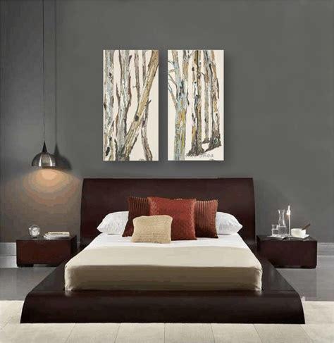 Grey Painted Rooms contemporary bedroom design dark gray walls artwork zen
