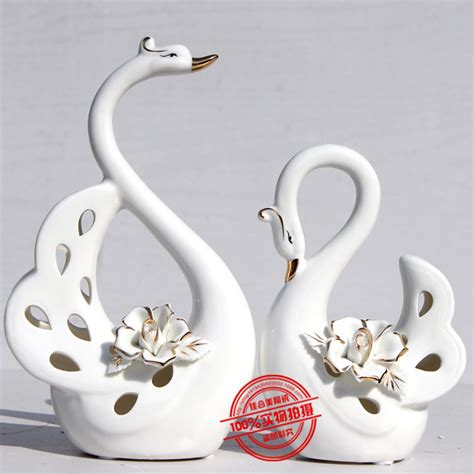 ceramic crafts for term supply of creative home fashion swan ceramic