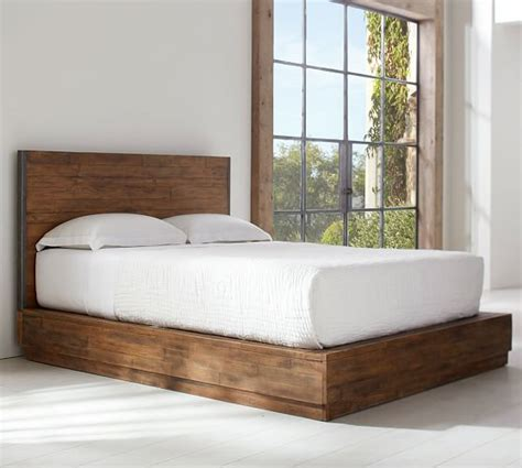pottery barn beds big s antiques reclaimed wood bed pottery barn