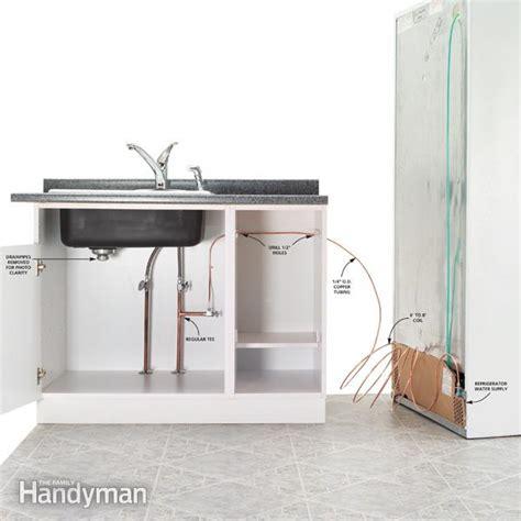 install plumbing how to install refrigerator plumbing family handyman