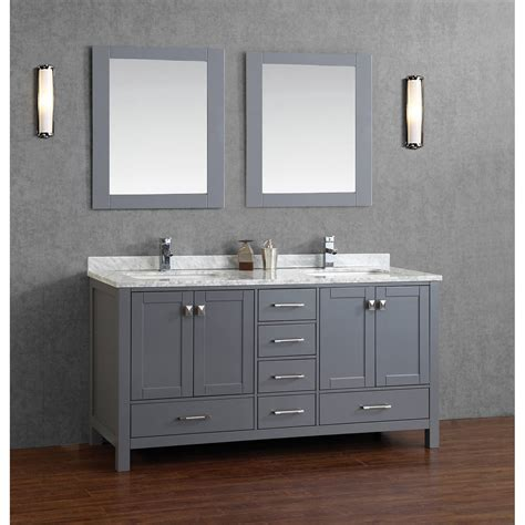 gray bathroom vanities buy vincent 72 inch solid wood bathroom vanity in