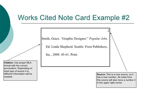 how to make a source card mla taking notes with note cards